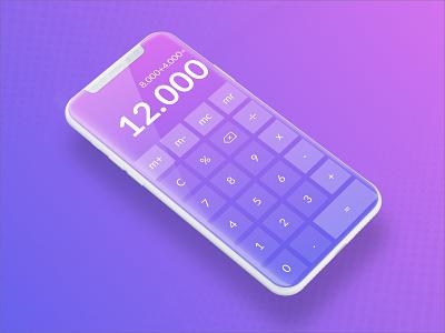 Calculator App gradient calculatorui ux ui dailyuichallenge dailyui004 dailyui design smartphone mobile calculator app