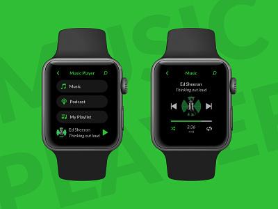 Music Player mobile music smart app design interface dailyuichallenge dailyui ui music player smartwatch watch