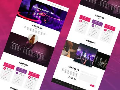 Wedi Website, music producer design layout music website website design website concept user interface ui