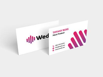Wedi Business Card branding concept brand identity vector print logo illustration design business card business branding brand