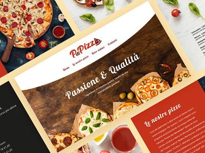 PdiPizza Website Mockup ui web design website design layout pizzeria mockup website web