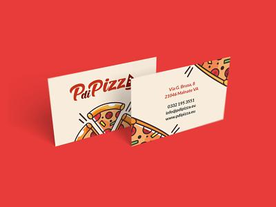 PdiPizza Business Card design logo food illustration branding brand business card pizzeria pizza
