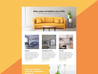 Newsletter Template furniture marketing ui design web newsletter