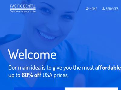 Pacific Dental // WebDesign