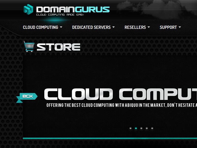 Domaingurus hosting cloud computing wordpress e-commerce branding web design