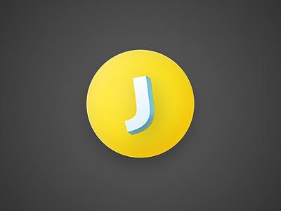 Jike.Town Icon j yellow icon round mac app jike
