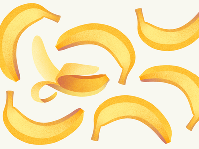 Banana digital illustration banana