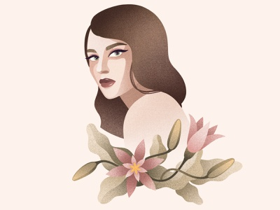 Beautiful flowers procreate digital digitalart illustration artwork art design portrait