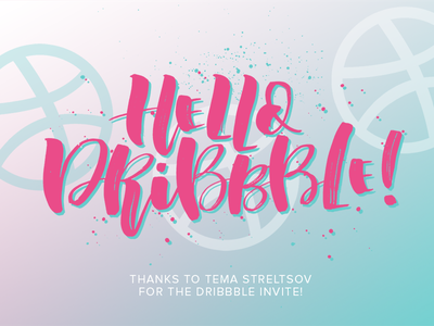 Hello Dribbble! fontdesign brushcalligraphy brush lettering calligraphy