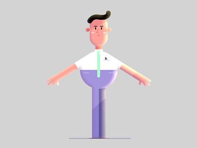 Lighting Test man animation llustration character design