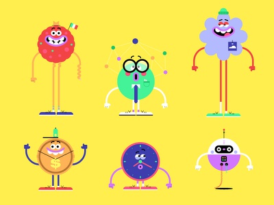 The Magical World Of Data  (Alt Characters) tech data animation llustration character design