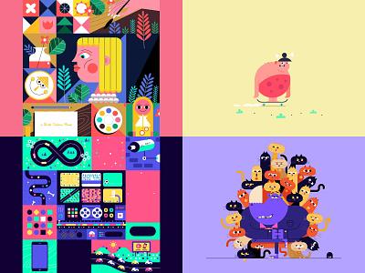 2018 cute loop gif illustration animation character