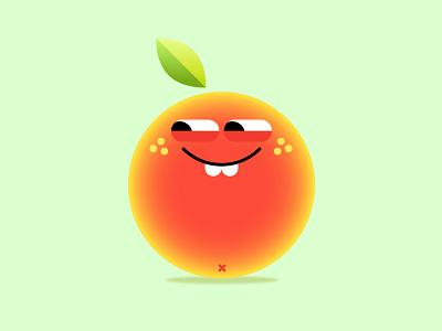 Emoji_Orange orange cute emojis emoji gif animation illustration character