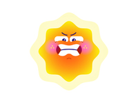 Sunny Days - Emojis emoticon cute summer sun emotion characterdesign emoji