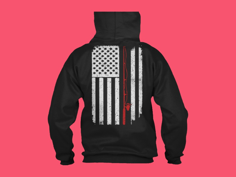 Download Fishing Bass Boat American Flag T Shirt by Meluxe T-Shirts ...