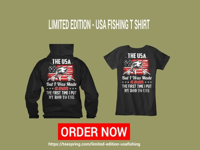 Limited Edition - Usa Fishing T Shirt