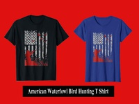 American Waterfowl Bird Hunting T Shirt
