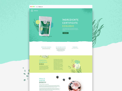 Raw-vegan products landing page ux ui website outofspace cosmetic eco natural product bio vegan raw natural products landingpage webapge webdesign