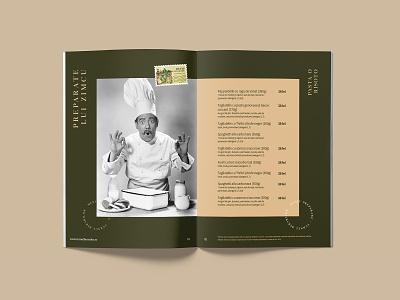 Menu Proposal for Restaurant and Brewery grid menu wizzdesigner postal stamp stamp brewery restaurant gold green simple elegant beverage food modern menu retro chef