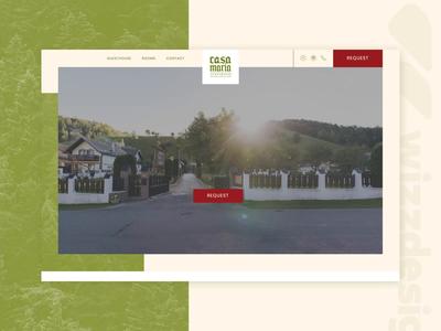 Homepage design wilderness landingpage uiux homepage webdesign guesthouse