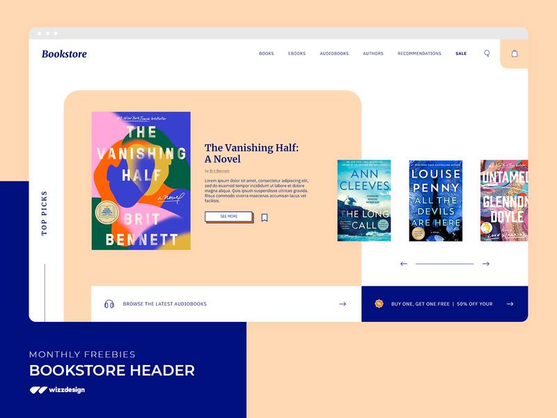 Bookstore Website Freebie ux ui uiux webdesign website homepage bookstore freebie