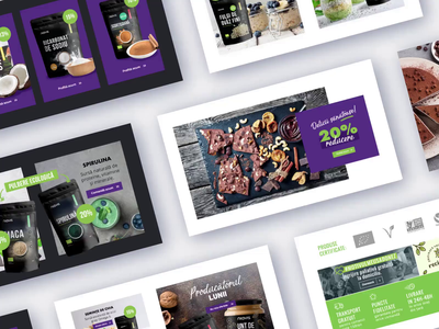 Newsletter Showcase email marketing social green purple coconut peanutbutter superfoods natural bio organic video uiux newsletter email design