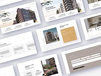 Real Estate Developer Homepage real estate website design uxdesign ux ui uidesign homepage webdesign web interface landing page