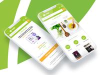 Responsive superfoods website