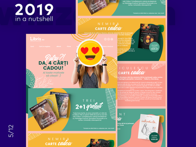 Online bookstore newsletter romania agency emoji books email ecommerce bookstore newsletter