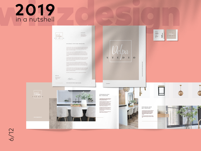 Visual Identity interior design clean folder brochure letterhead stationary visual identity