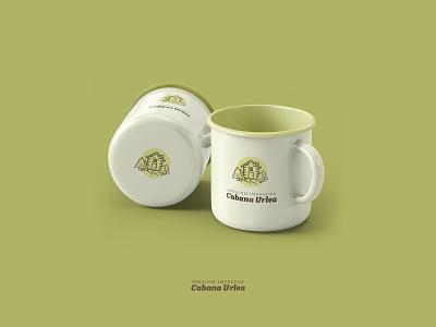 Logo Concept for Cabana Urlea pinetree trees logo design outdoor badge outdoor logo cabin mug design logo