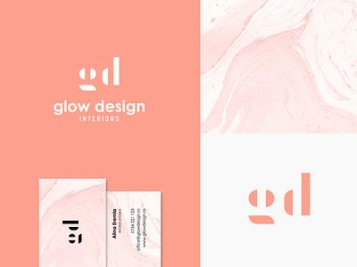 Brand identity exploration for Interior Design Studio pink coral glow branding symbol elegant logotype logo monogram architecture marble interiordesign design