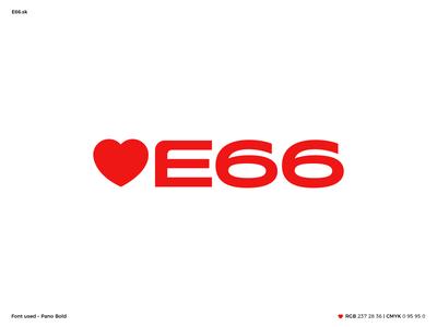 E66 – logo for Antiobesity campaign vector logo typography design