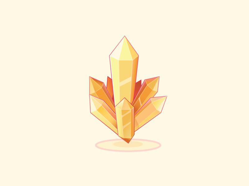 Emperium crystal vector illustration