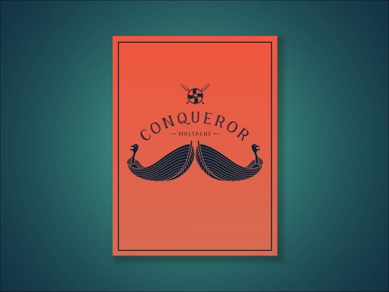 Conqeror Mustache vector illustration