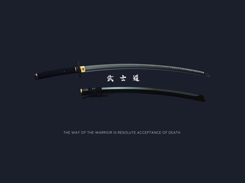 Way of Warrior vector illustration