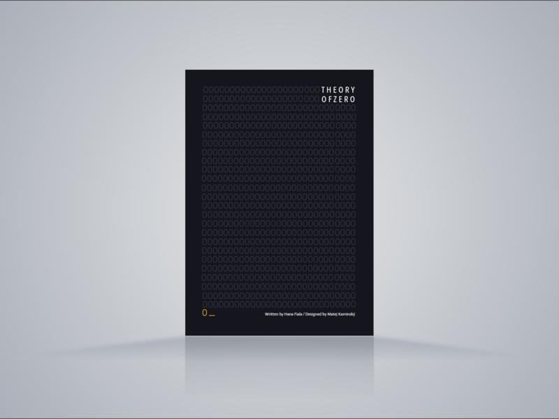 Theory of ZERO typography design vector illustration