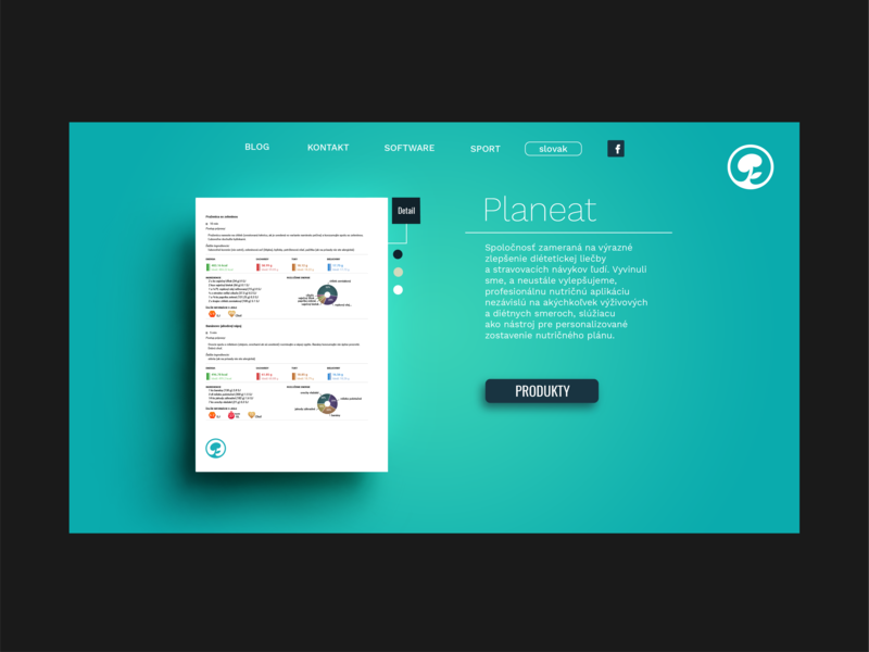 Planeat softwear official page website web vector logo branding ux