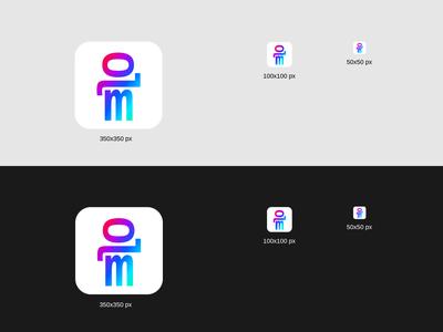 Loomie lettering type app website web icon typography logo design vector