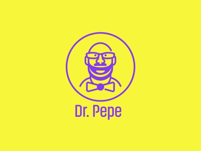 Dr. Pepe logo design logo vector illustration
