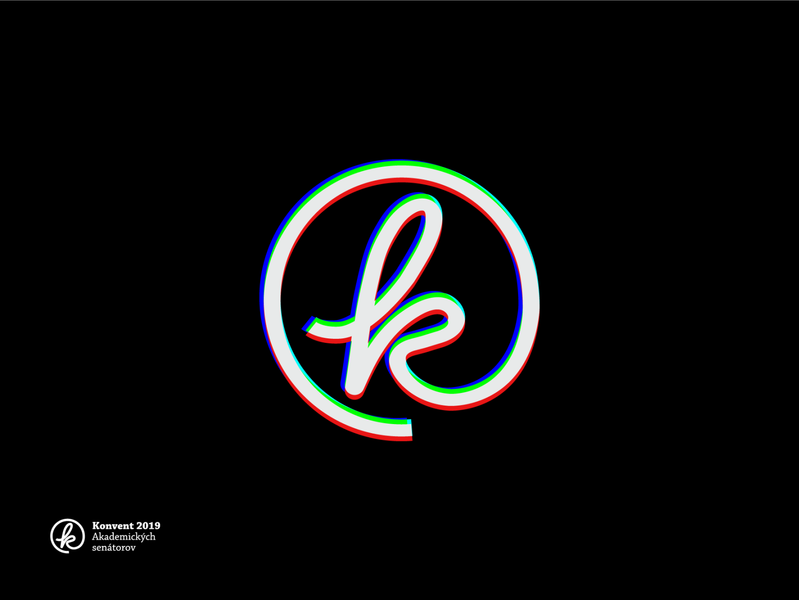Konvent 2019 the Meeting Place of Academic Senators lettering typography vector branding design logo