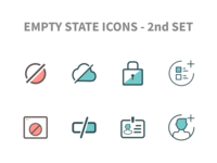 Empty State Icons   2nd Set