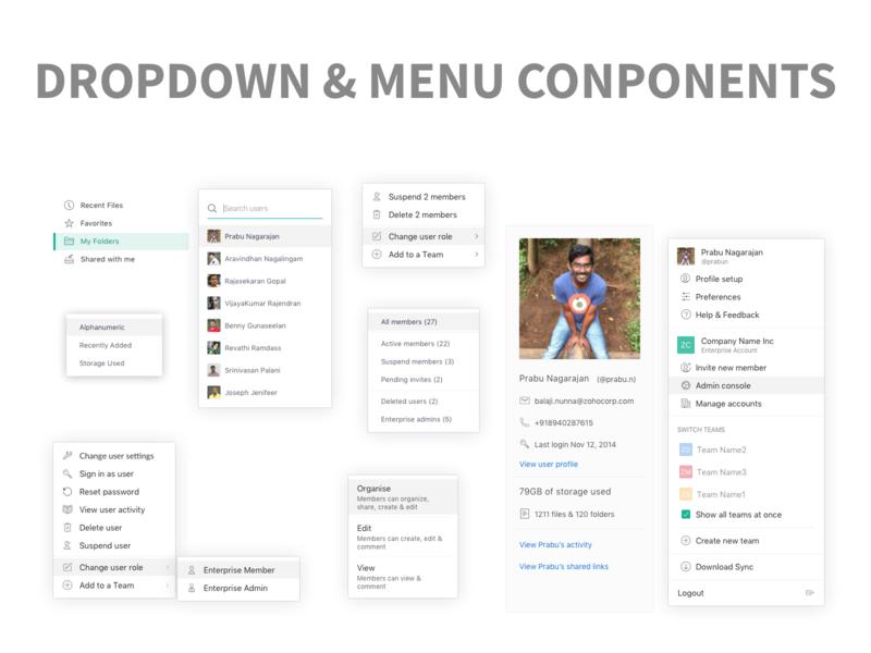 Dropdown Menu Components