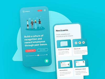Unipos –New market, new strategy ux design ux ui design ui illustration human centered design value proposition landing page responsive design web design