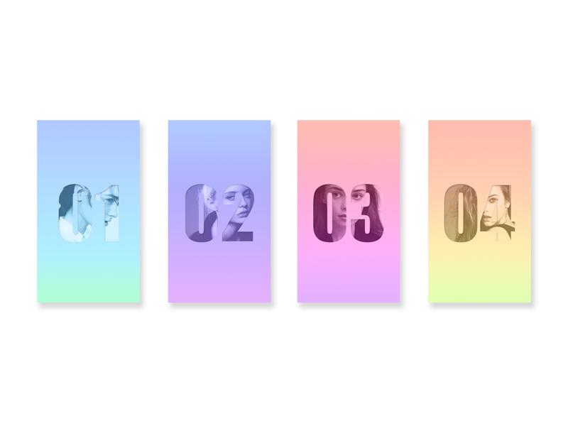 Gradient color card color gradient