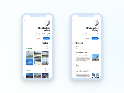 Simple Travel Guide App Part 6 Profile ui travel profile ios guide app
