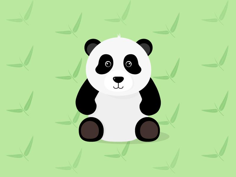 My Panda Toy flat illustration plush toy panda