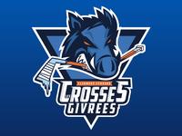 Hockey Logo - Les Crosses Givrées