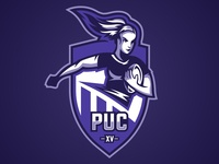 PUC Women's Rugby Team Logo