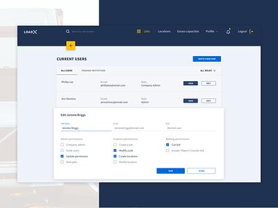 Form design permissions add user new user table form design form field forms back office webapplication webapp website
